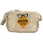 Geek Zone Warning Messenger Bag
