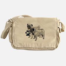 two pugs Messenger Bag