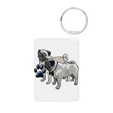 two pugs Keychains