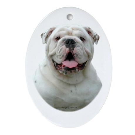 Bulldog 5 Oval Ornament