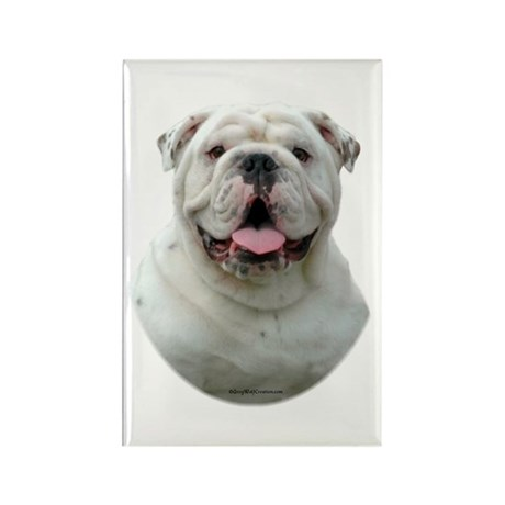 Bulldog 5 Rectangle Magnet