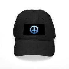 Blue Fade Peace Sign Baseball Hat