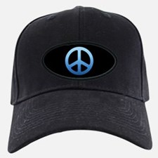 Blue Fade Peace Sign Baseball Hat