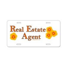 Real Estate Agent Aluminum License Plate