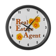 Real Estate Agent Large Wall Clock