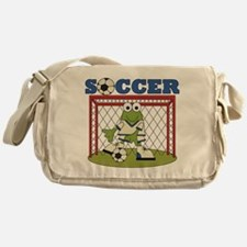 Frog Soccer Goalie Messenger Bag