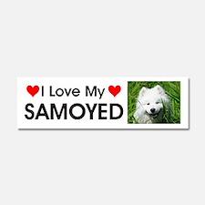 I Love My Samoyed Car Magnet 10 x 3