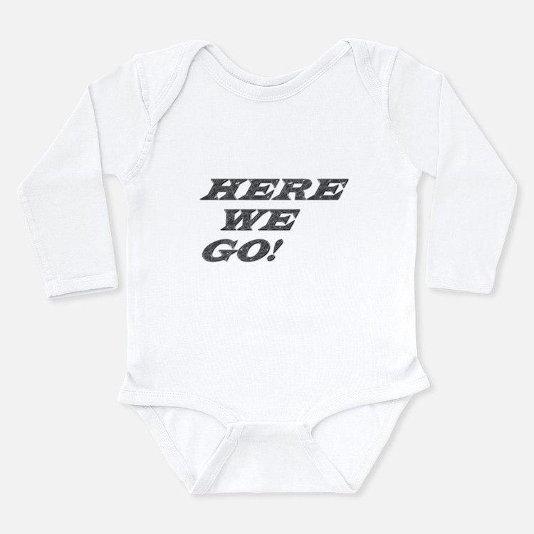 Cute Here we go steelers Long Sleeve Infant Bodysuit
