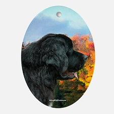 Newf 4 Oval Ornament