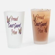 Proud Coast Guard Mom Drinking Glass