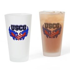USCG Heart Flag Drinking Glass