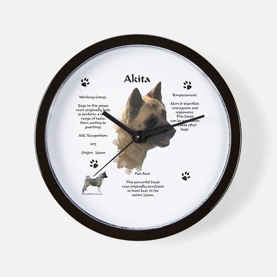 Akita 1 Wall Clock