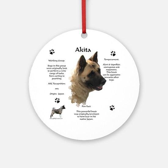 Akita 1 Ornament (Round)