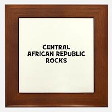 CENTRAL AFRICAN REPUBLIC ROCK Framed Tile