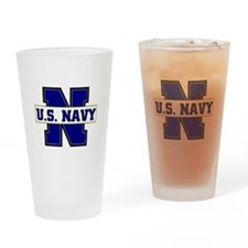 U S Navy Drinking Glass