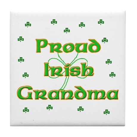 Proud Irish Grandma Tile Coaster
