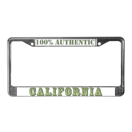 California 100% Authentic License Plate Frame