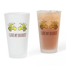 I Love My Boobees Drinking Glass
