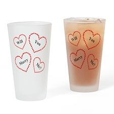 Love & Hearts Drinking Glass