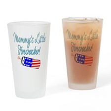 Mommy's Little Firecracker bl Drinking Glass