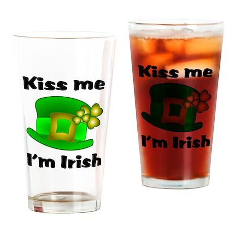 Kiss Me I'm Irish Hat Drinking Glass