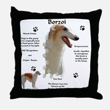 Borzoi 1 Throw Pillow