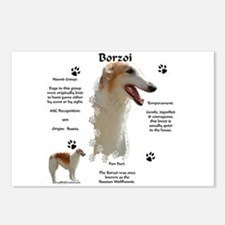 Borzoi 1 Postcards (Package of 8)