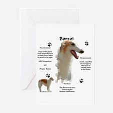 Borzoi 1 Greeting Cards (Pk of 10)