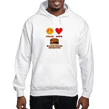 Peace Love Hamburger Cookouts Hoodie