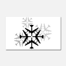 B-52 Aviation Snowflake Car Magnet 20 x 12