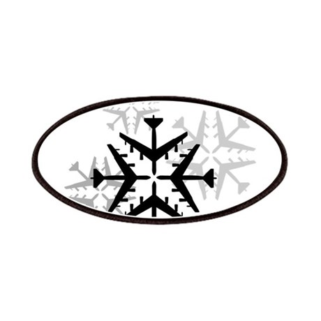 B-52 Aviation Snowflake Patches