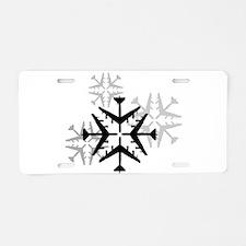 B-52 Aviation Snowflake Aluminum License Plate