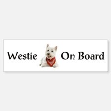 Westie On Board Bumper Bumper Sticker