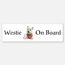Westie On Board Sticker (Bumper)