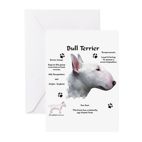 Bull Terrier 1 Greeting Cards (Pk of 10)