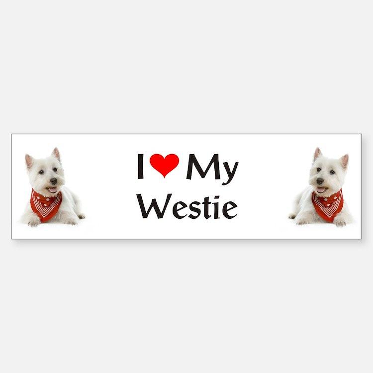 I Love My Westie Bumper Bumper Sticker