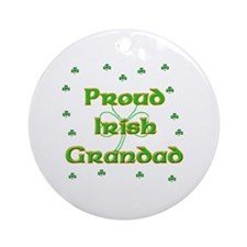 Proud Irish Grandad Ornament (Round)