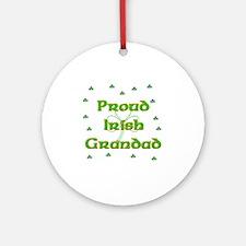 Proud Irish Grandad Ornament (Round)