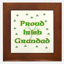 Proud Irish Grandad Framed Tile