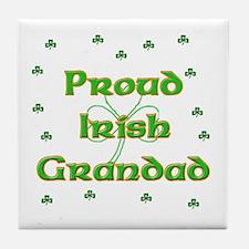 Proud Irish Grandad Tile Coaster