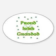 Proud Irish Grandad Oval Decal