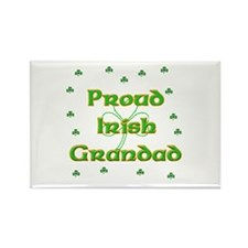 Proud Irish Grandad Rectangle Magnet (10 pack)