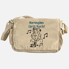Norwegian Girls Rock Messenger Bag