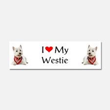 I Love My Westie Car Magnet 10 x 3