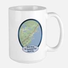 Slowly Hiking the A.T. Large Mug