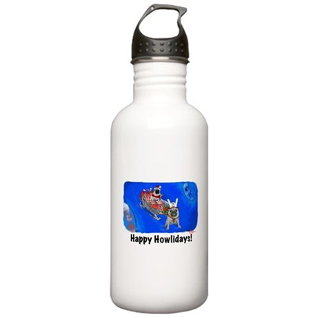 Howliday Pugs Stainless Water Bottle 1.0L