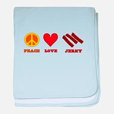 Peace Love Jerky baby blanket