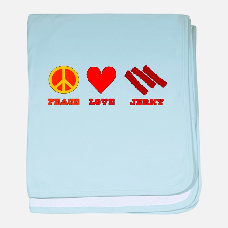 Peace Love Jerky baby blanket