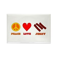 Peace Love Jerky Rectangle Magnet (10 pack)