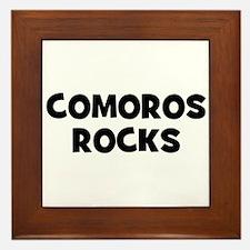 COMOROS ROCKS Framed Tile